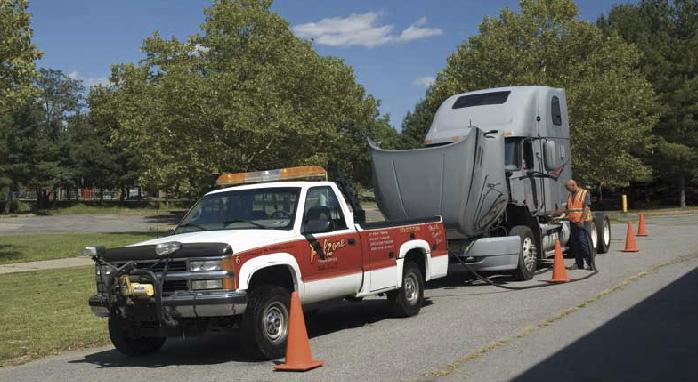 falzone fixing a semi truck