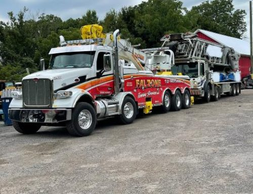 Tow Truck Service Hauls 5 Axle Truck